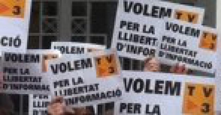 Cròniques de les mobilitzacions contra el tancament de TV3