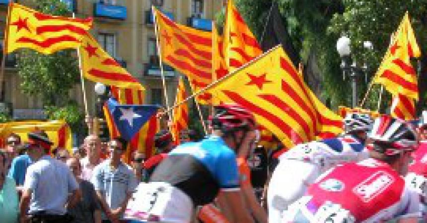 Rebuda independentista a La Vuelta
