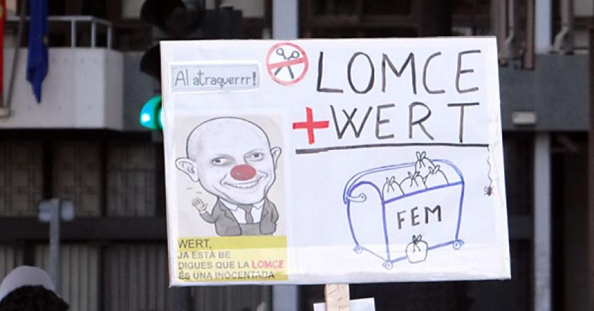 Milers de treballadors i estudiants tornen a mobilitzar-se en defensa de l'ensenyament públic