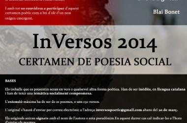 El col·lectiu Inversos organitza un certamen de poesia social a Vilafranca