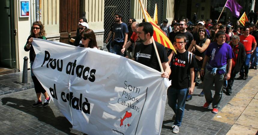 Recull d'imatges de la manifestació del 26 d'abril a València