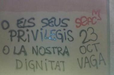 Vaga d'estudiants al País Valencià