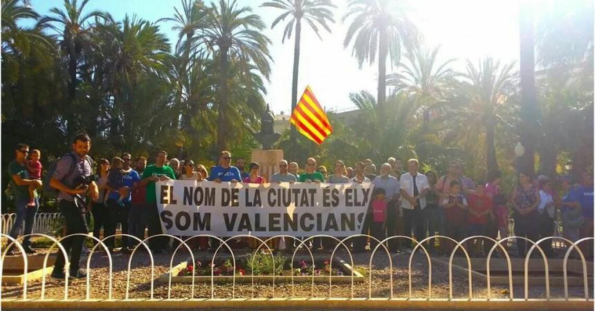 9 d'octubre a Elx en defensa del valencià