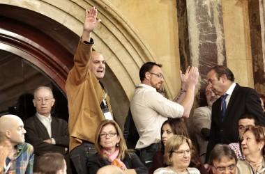Salutació feixista al Parlament de Catalunya