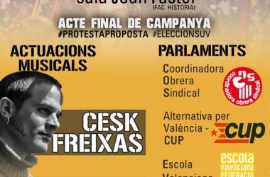 El SEPC fa l'acte de fi de campanya a les eleccions de la Universitat de València