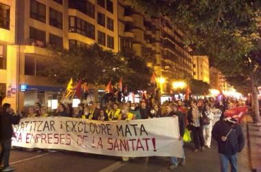 València ix al carrer contra la privatització de la sanitat