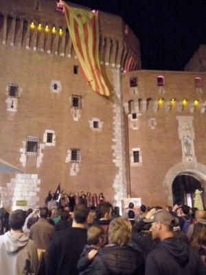 Estelada al Castellet
