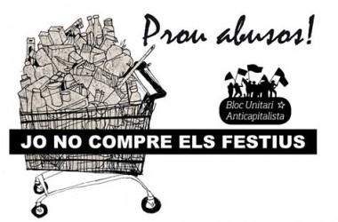 El Bloc Unitari Anticapitalista clou la campanya contra la liberalització d'horaris a València