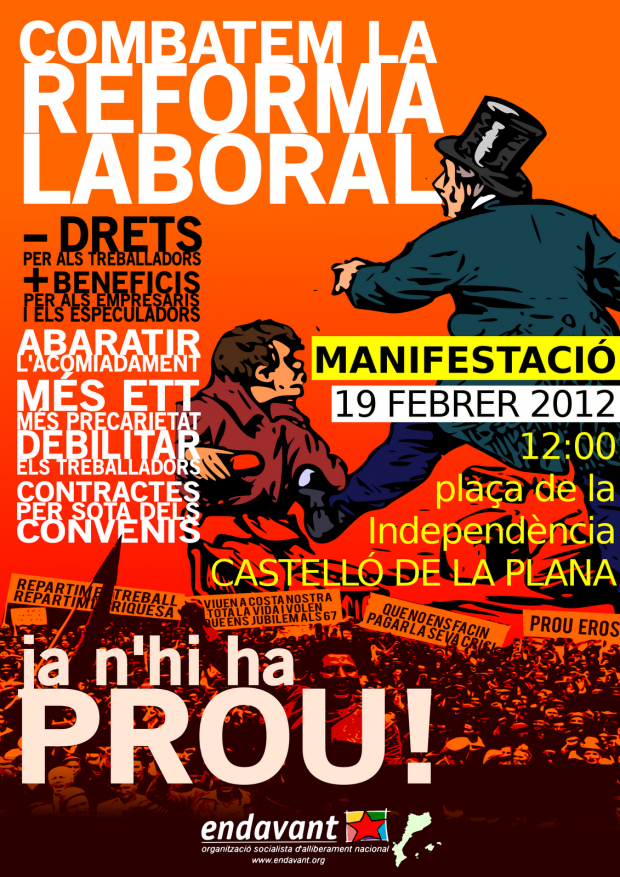 19-02-2012 reforma laboral Castelló de la Plana Endavant-OSAN