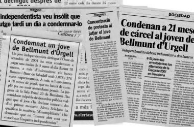 El testimoni de Víctor Gibanel, que la defensa considerava inventat, l'única prova per a condemnar un independentista el 2001