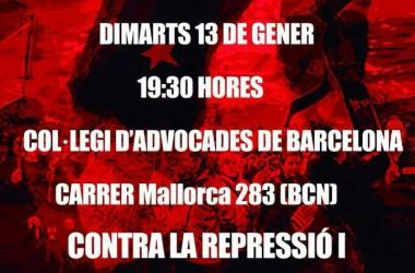 Concentració a Barcelona contra la repressió i les darreres detencions a Euskal Herria