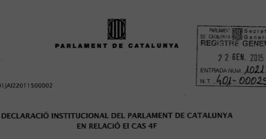 Tots els partits del parlament principatí signen una declaració institucional sobre el 4F
