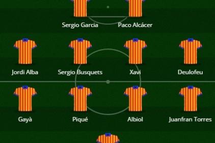 L'Onze somniat del futbol als Països Catalans