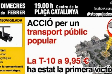 Stop Pujades de Transport torna al carrer després de les sancions