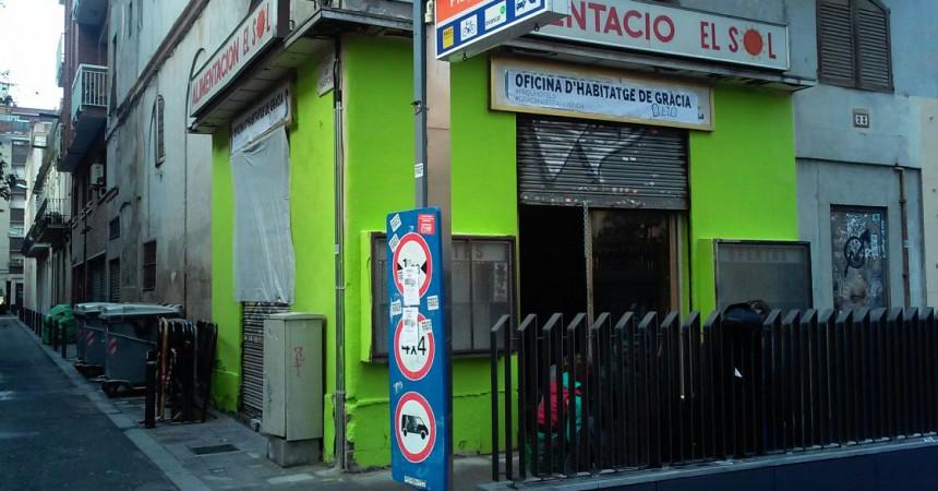 Empenta a la lluita per l'habitatge i contra l'elititzacó a Gràcia