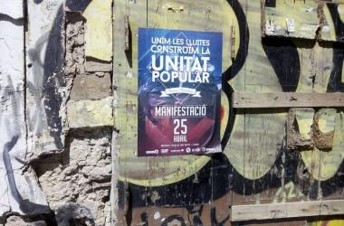 25 d'Abril: l'esquerra independentista crida a unir les lluites per construir el futur