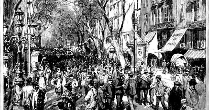 El primer 1r de maig a Barcelona