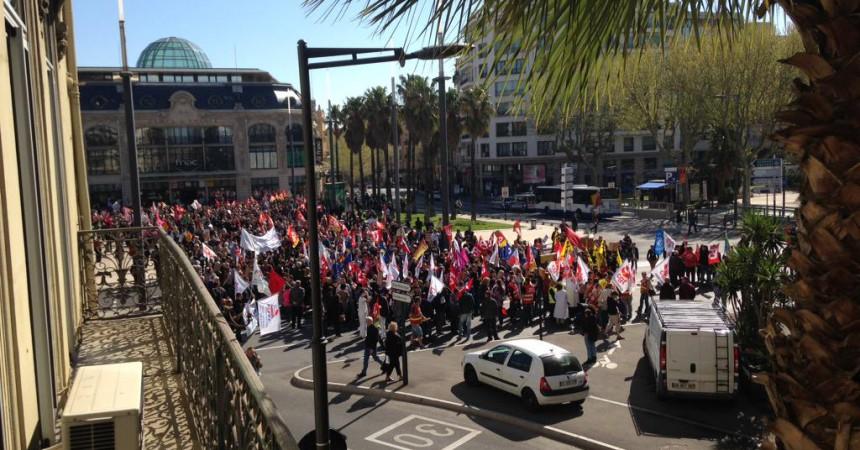 3.000 manifestants a la jornada de lluita sindical a Perpinyà