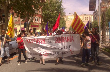 Bloc de l'esquerra independentista a l'1 de maig a Alacant