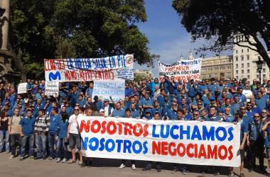 La vaga Movistar demostra que segueix viva i plena de ràbia i raons