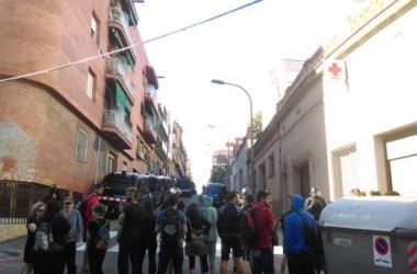 Manifestació contra el desallotjament de La Llamborda