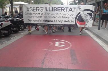 Clam antifeixista solidari pels carrers de Sant Andreu