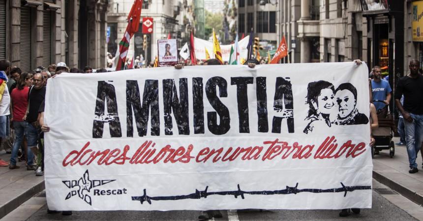 Manifestació per la llibertat de les preses polítiques a Barcelona