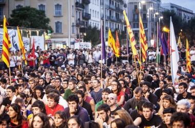 Galeria d'imatges de la manifestació de l'esquerra independentista l'Onze de Setembre a Barcelona