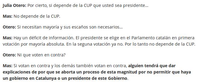 Transcripció de l'entrevista radiofònica de Julia Otero a Artur Mas (16/9/2015), feta per Crític.cat