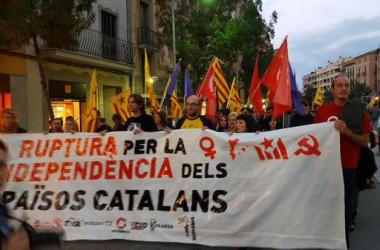 Crònica de les mobilitzacions de l'esquerra independentista la vigilia de la Diada