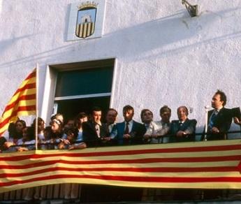 Visita de Josep Lluís Albinyana a Rossell, any 1979.