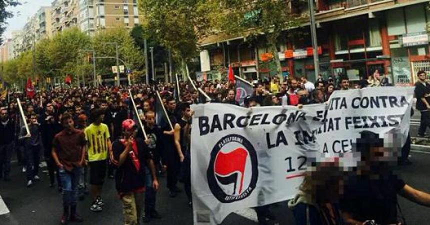 Les múltiples vessants de l'antifeixisme surten al carrer a Barcelona
