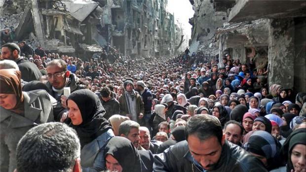 Al camp de refugiats palestins de Yarmouk, Damasc viuen milers de persones expulsades per la neteja ètnica d'Israel.