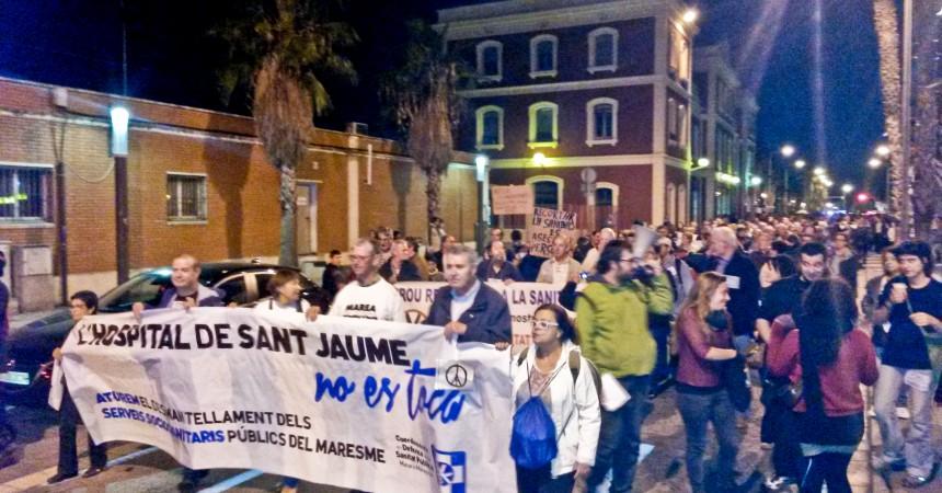 La lluita per la sanitat pública al Maresme torna a omplir el carrer