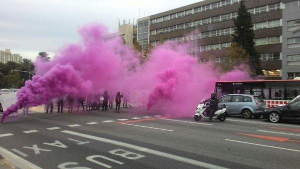 Barcelona, acció al matí, Diagonal