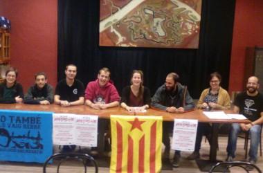 Es presenta la Coordinadora de l'Esquerra Independentista a Vilafranca denunciant la repressió