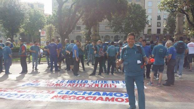 En José Guillermo, a la manifestació del 7 de maig