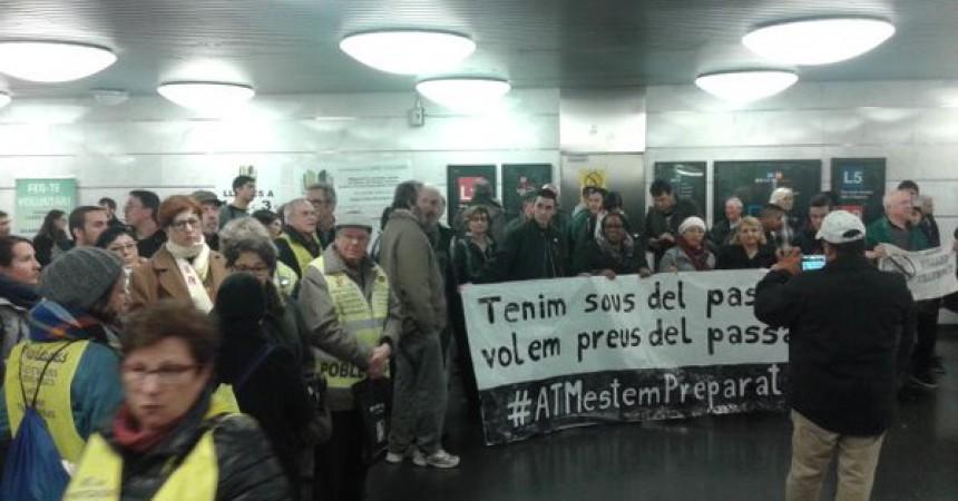 Tornen les mobilitzacions contra el preu abusiu del transport públic a Barcelona