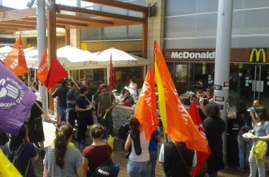 La COS i Arran criden al boicot contra el McDonalds de la Maquinista