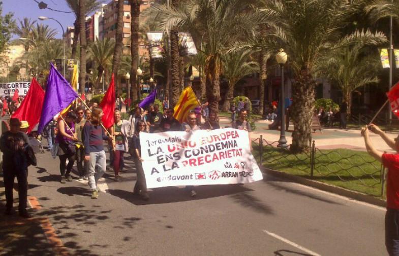 L'anticapitalisme es mobilitza a Alacant i a Gandia