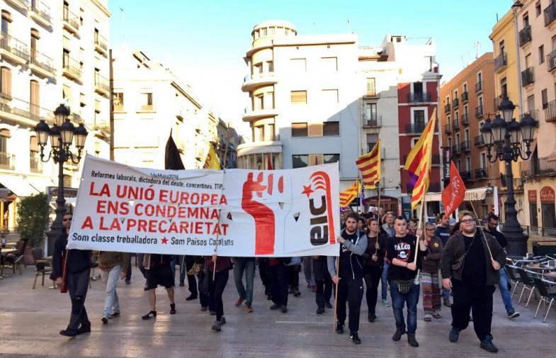 Mig miler de persones criden a organitzar-se per lluitar en la mobilització anticapitalista del Primer de Maig al Camp de Tarragona
