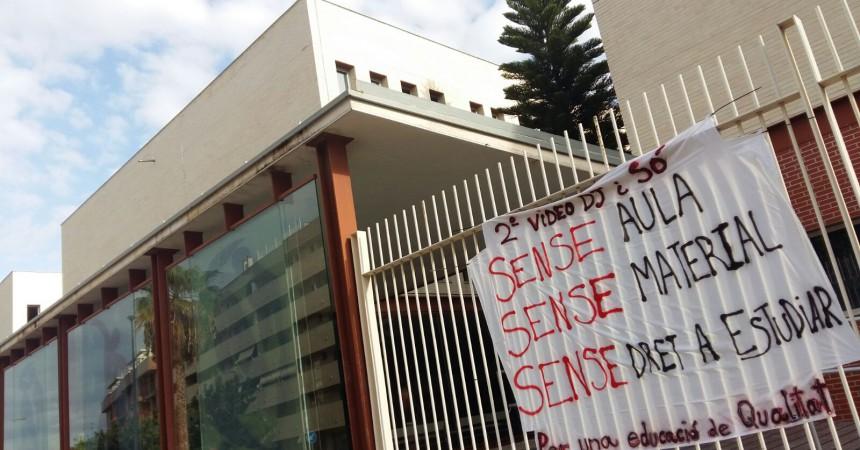 Protestes dels alumnes de Vídeo DJ i So a Paterna