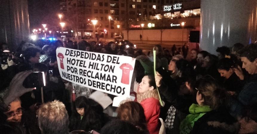 Connexió de solidaritat contra la precarietat de les cambreres de pis