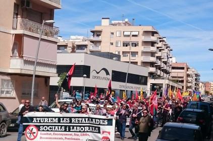 L'1 de maig anticapitalista de 2017 als Països Catalans en imatges