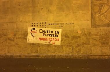 Nit de solidaritat i contra la repressió a València