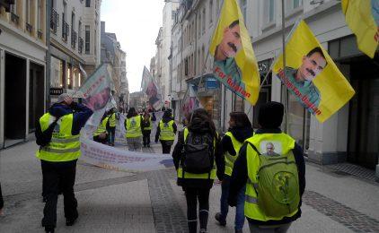 Recepció a Metz de la marxa europea en solidaritat amb el Kurdistan