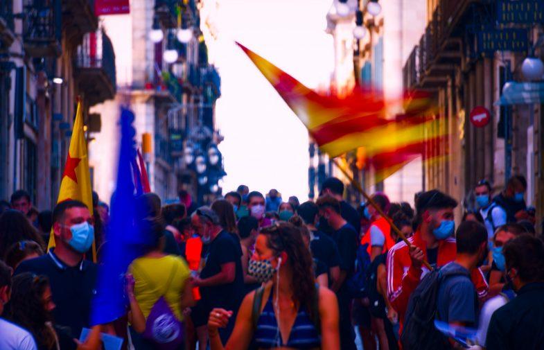 Galeria fotogràfica de l'11S a Barcelona