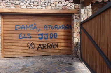 Accions al Pirineu contra el projecte de Jocs Olímpics